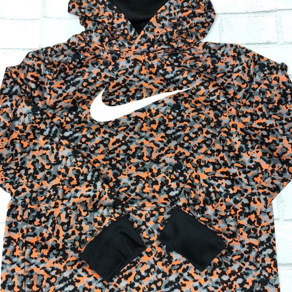Nike Shirts & Tops | Hooded Sweatshirt Camouflage Gray